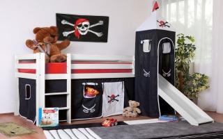 lit sur lev enfant pirates. Black Bedroom Furniture Sets. Home Design Ideas