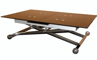 Table basse transformable up and down lisa - Table transformable up down ...