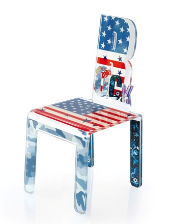 chaise pour enfant et ado rock drapeau par acrila - Chaise De Bureau Ado