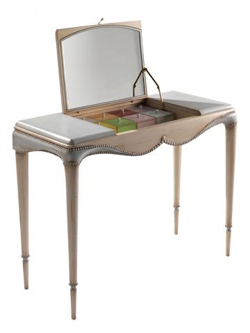 meuble coiffeuse avec miroir josephine baker. Black Bedroom Furniture Sets. Home Design Ideas