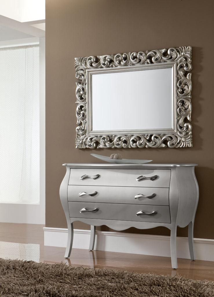 miroir style baroque rectangulaire 2 couleurs dupen. Black Bedroom Furniture Sets. Home Design Ideas