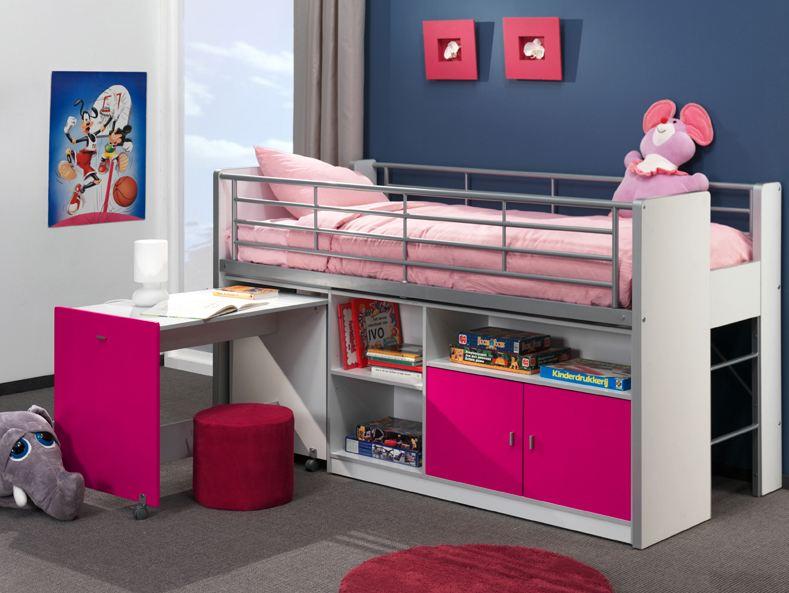 lit combin bonny fuchsia smart bed. Black Bedroom Furniture Sets. Home Design Ideas