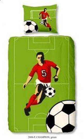 Housse de couette taie d 39 oreiller football smart bed - Housse de couette football ...
