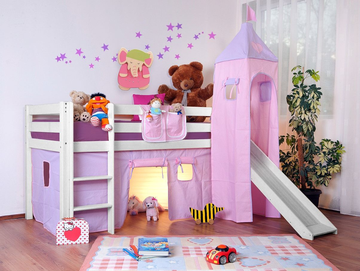 lit sur lev enfant lilla rose. Black Bedroom Furniture Sets. Home Design Ideas