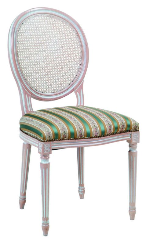 chaise cann e c rus blanc style louis xvi. Black Bedroom Furniture Sets. Home Design Ideas