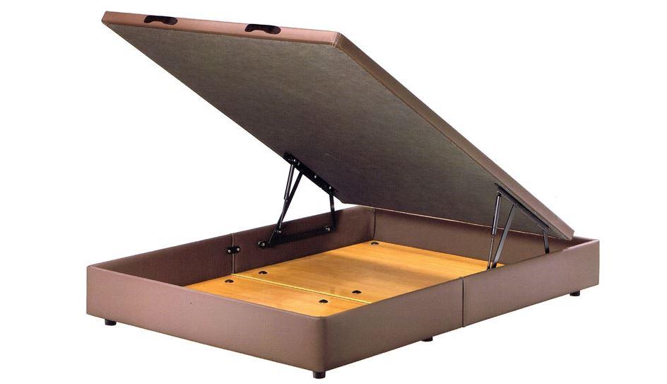 sommier coffre de rangement simili cuir ergo smart bed