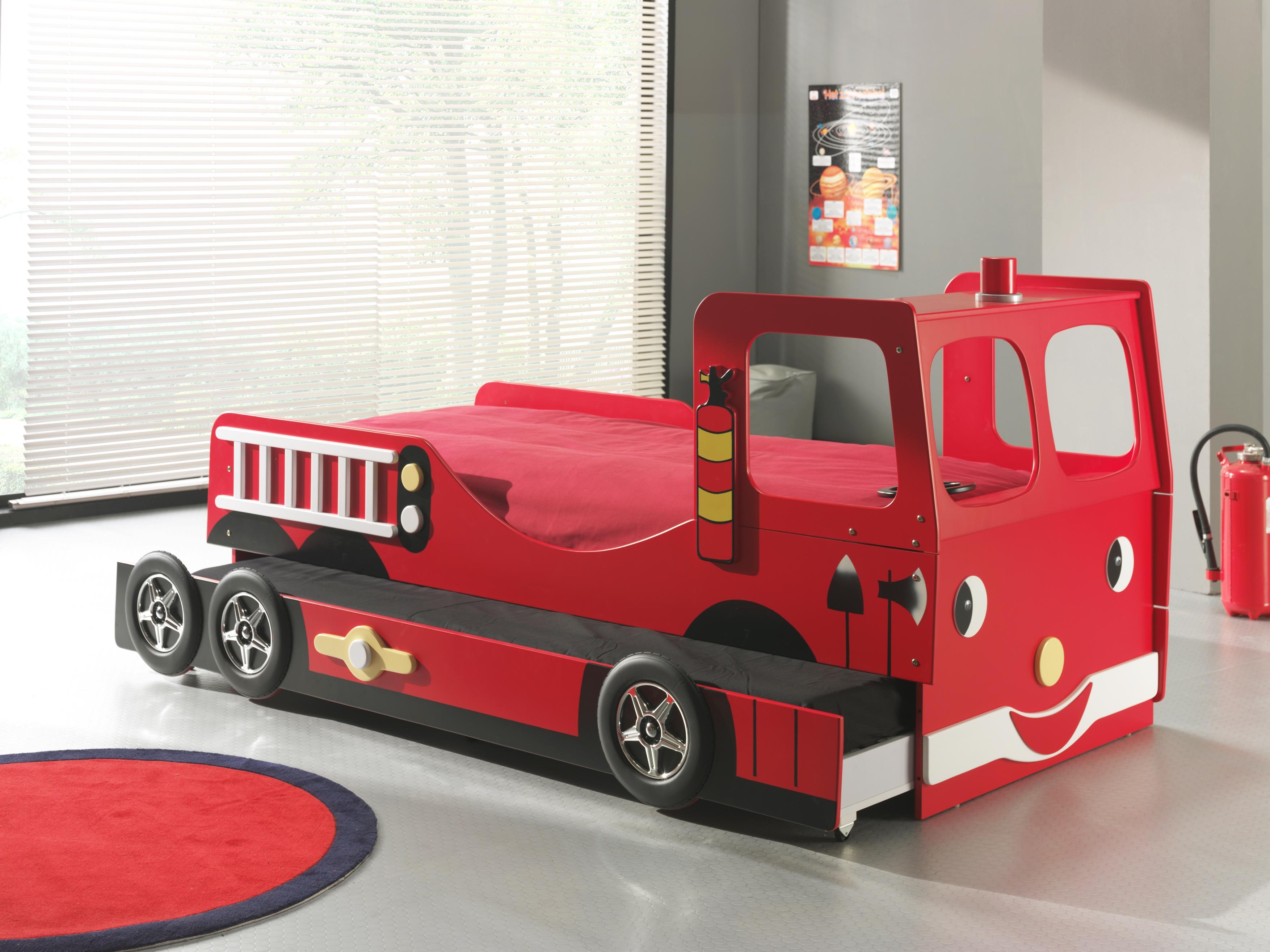 Lit gigogne camion pompier scftrb200 smart bed - Comparatif siege massant ...