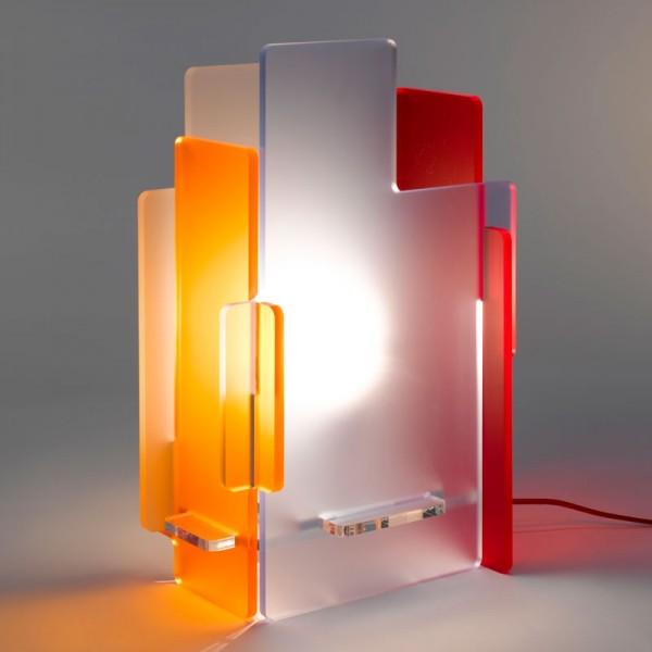 lampe de chevet en plexi gali. Black Bedroom Furniture Sets. Home Design Ideas