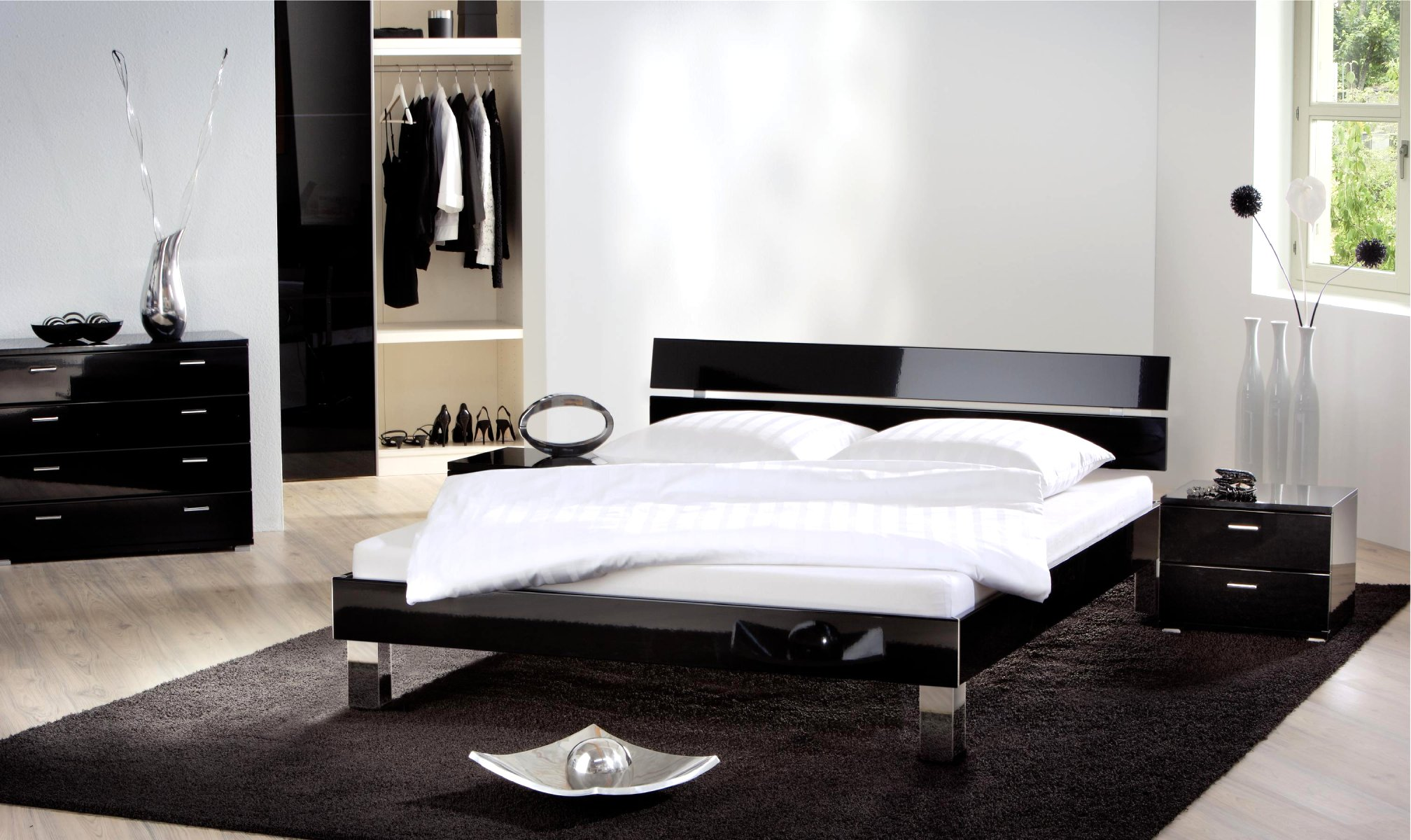 lit noir. Black Bedroom Furniture Sets. Home Design Ideas