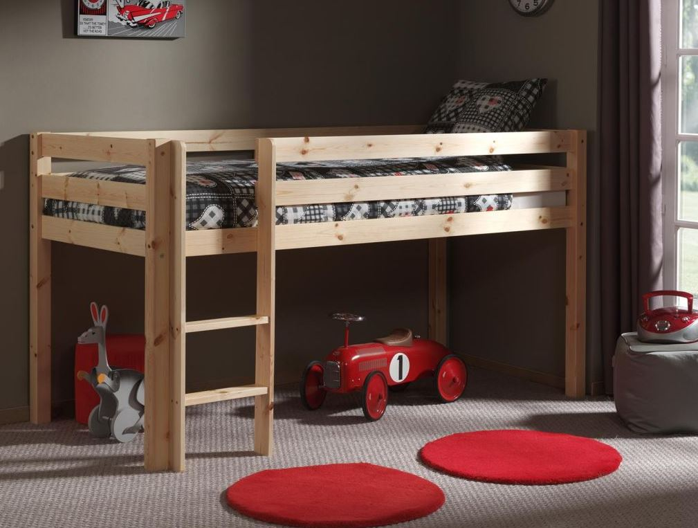lit sur lev enfant en pin massif aliz. Black Bedroom Furniture Sets. Home Design Ideas