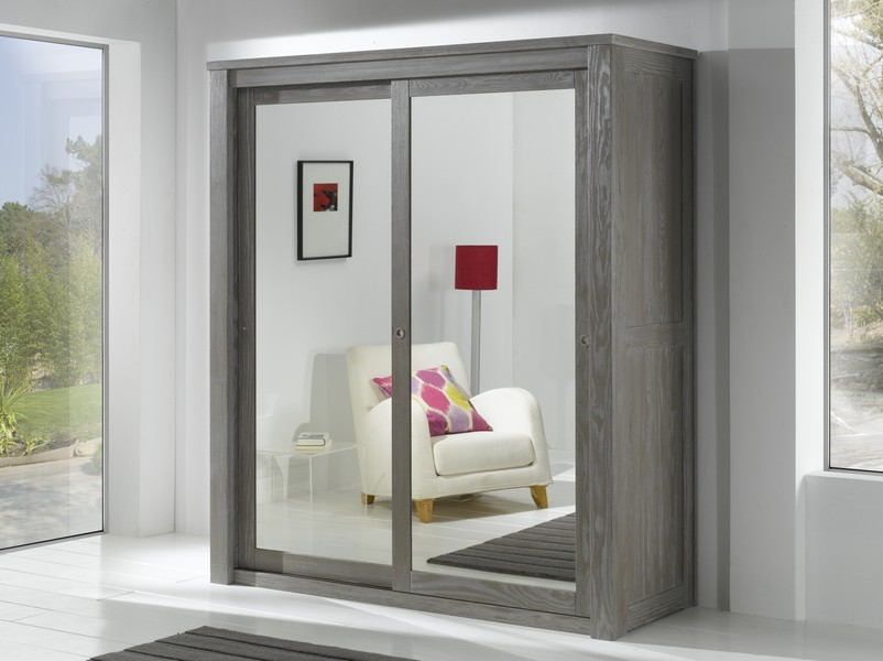 armoire 2 portes miroir coulissantes volda. Black Bedroom Furniture Sets. Home Design Ideas