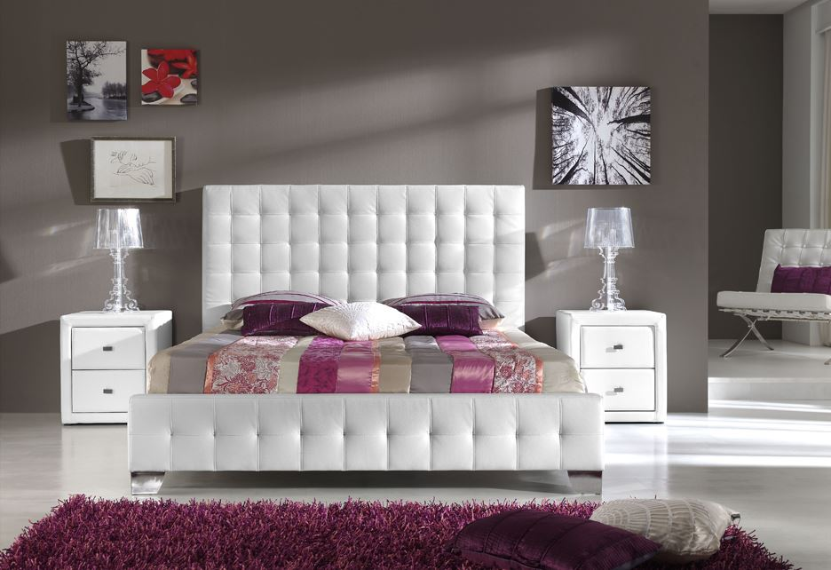 lit capitonn blanc. Black Bedroom Furniture Sets. Home Design Ideas