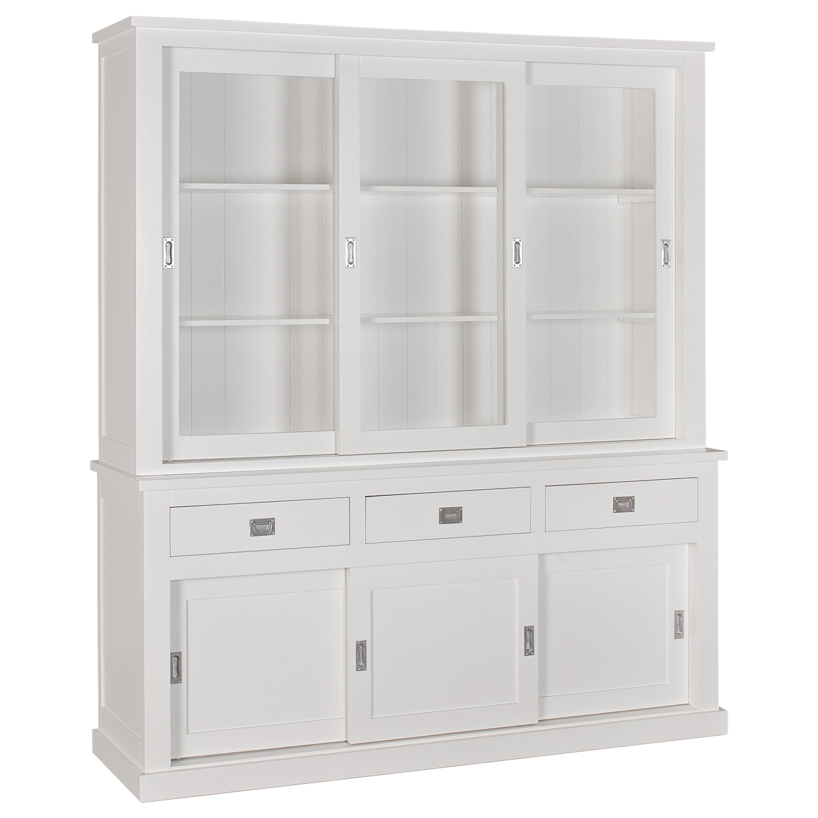 Buffet vitrine boxx 2x3 portes 3 tiroirs richmond interior for Buffet et vitrine