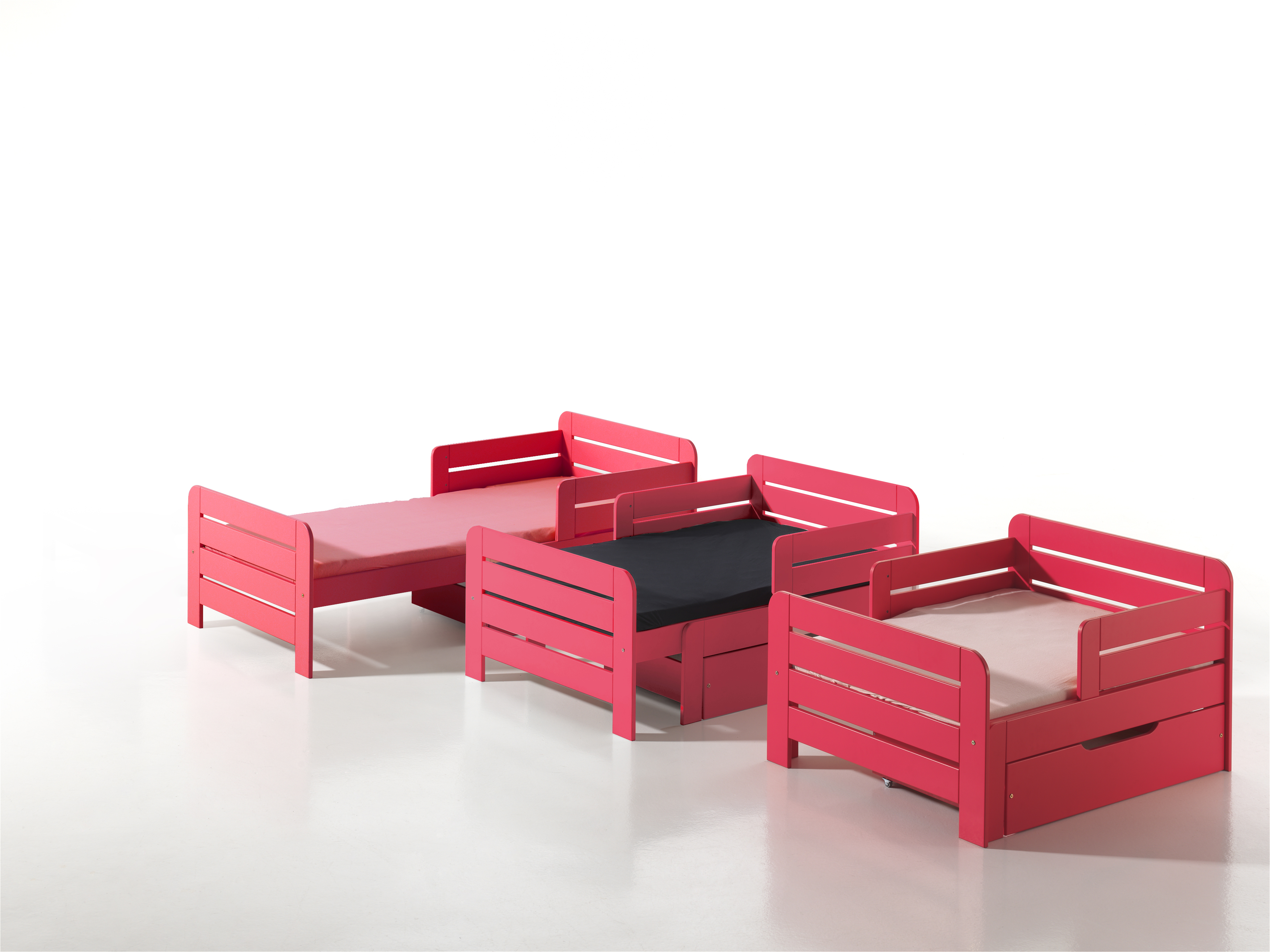 lit volutif pour enfant jumper fuchsia. Black Bedroom Furniture Sets. Home Design Ideas