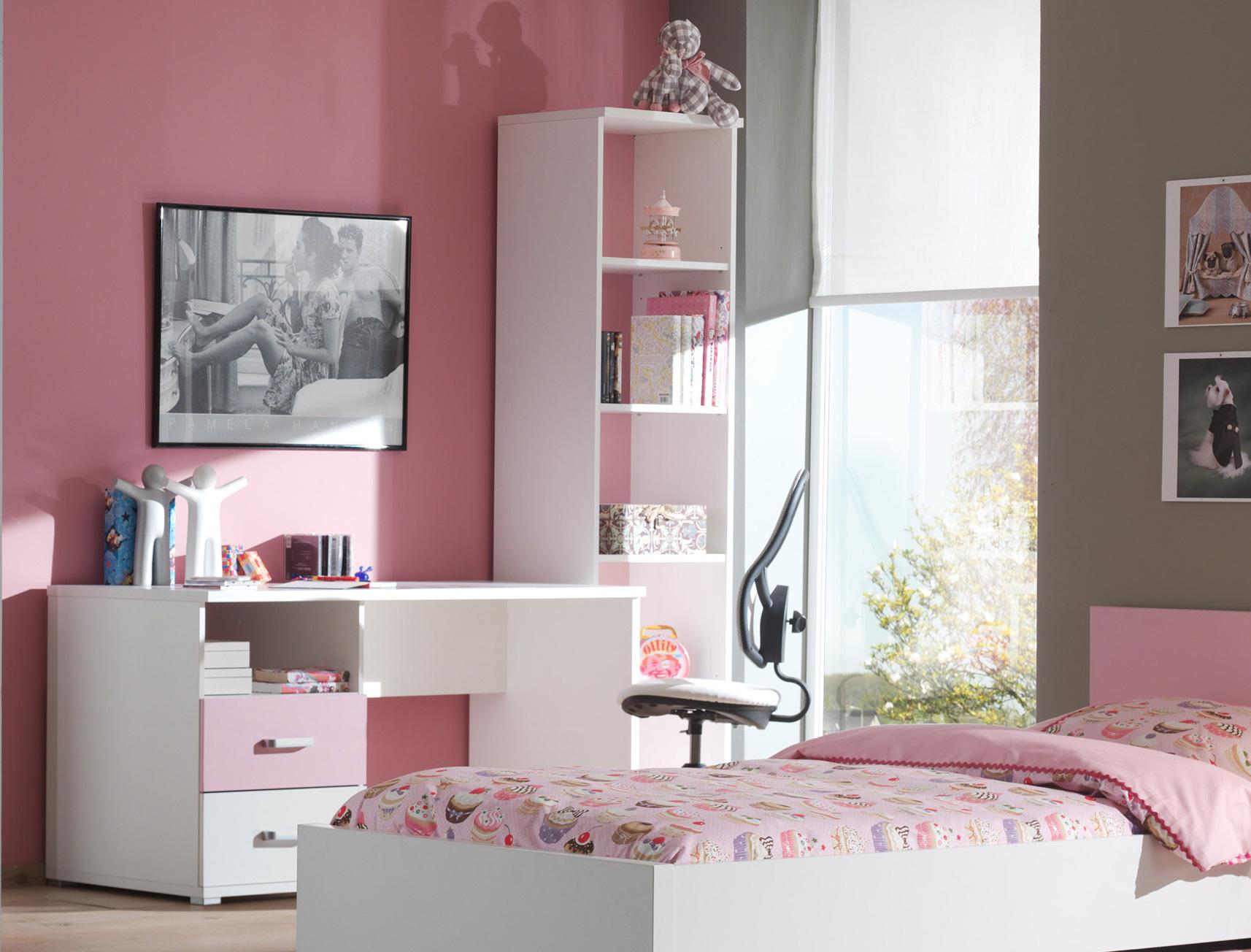 Bureau rose et blanc valentine
