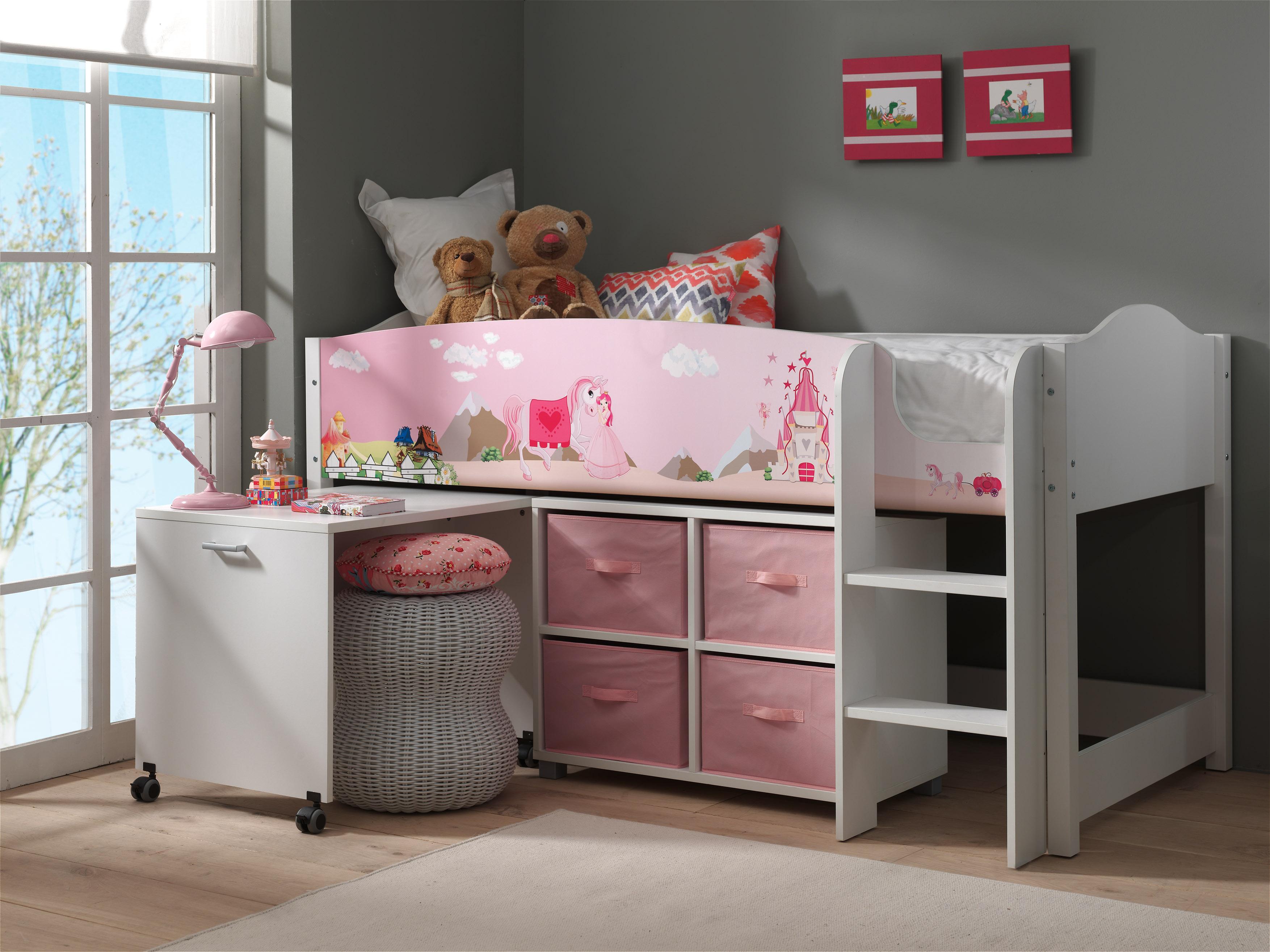 lit combin avec bureau lollipop princesse. Black Bedroom Furniture Sets. Home Design Ideas