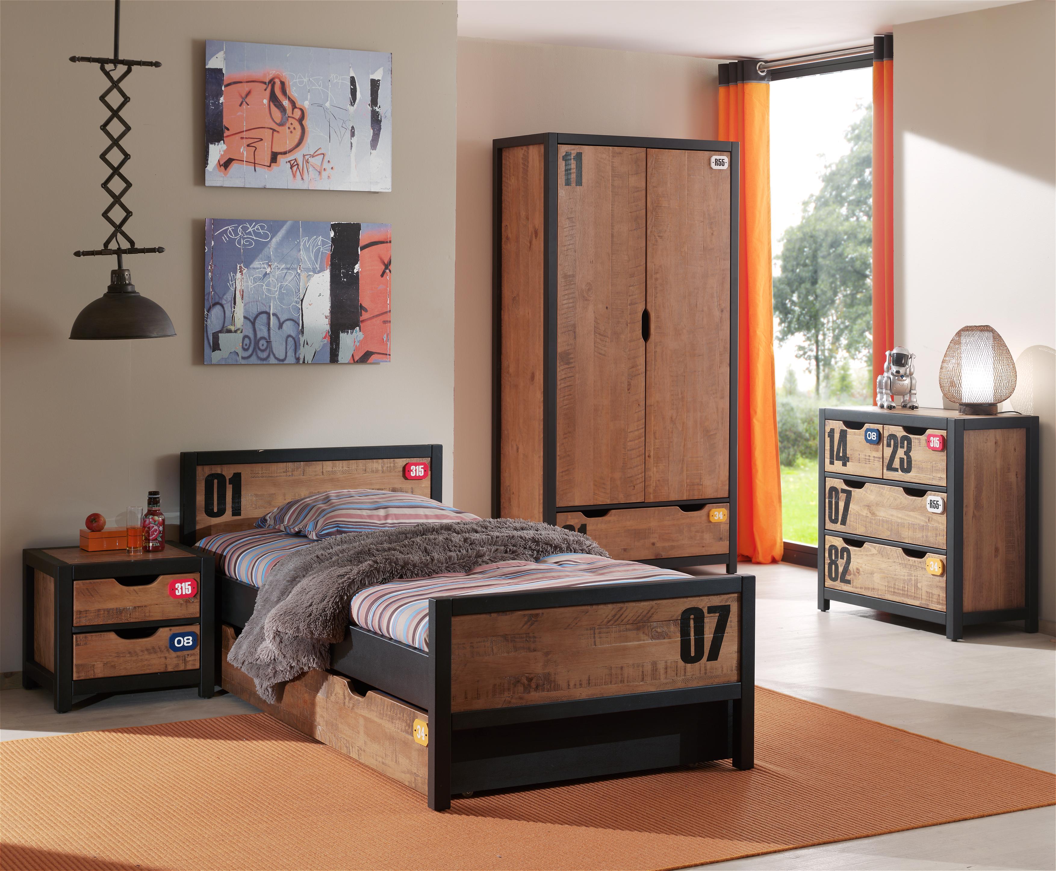 tiroir pour lit enfant industriel alex. Black Bedroom Furniture Sets. Home Design Ideas