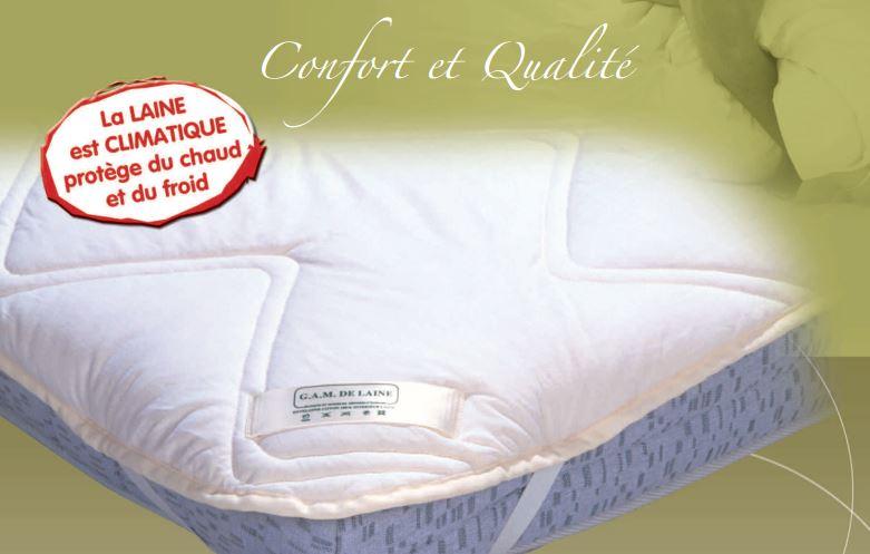 sur matelas en laine 500g biolaine gam de laine. Black Bedroom Furniture Sets. Home Design Ideas