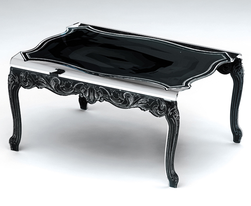 table basse baroque acrila. Black Bedroom Furniture Sets. Home Design Ideas