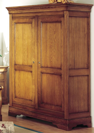 armoire en ch ne massif 2 portes elsa girardeau. Black Bedroom Furniture Sets. Home Design Ideas
