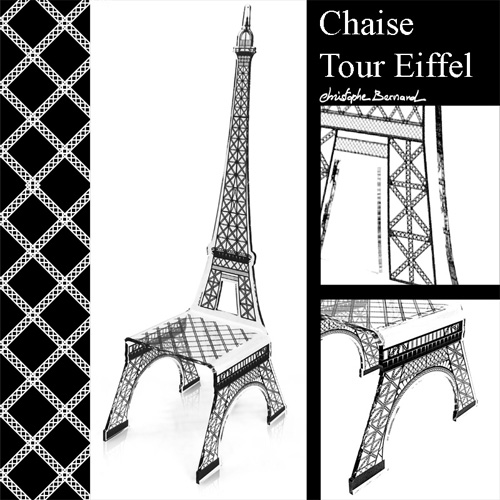 chaise originale forme tour eiffel en acrylique acrila. Black Bedroom Furniture Sets. Home Design Ideas